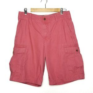 Izod Saltwater Sz 32 Red Cargo Shorts Men's